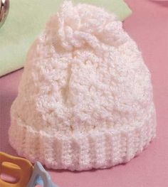 free crochet pattern - Baby's First Hat Designed by Pamela McGee  Makes a wonderful charitable donation. Skill Level: Beginner  Sizes:   Preemie(new born)(6 months)(12 months) (18 months)   (for some reason, I am never able to view the pictures at this site, but I'm sure glad others can.) from thumpysquietplace