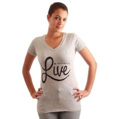 Remember Live Tee Women's Gray, $19.50, now featured on Fab.