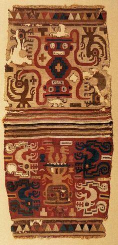 "Museo Chileno de Arte Precolombino » ""Chuspa"". Bolsa. Figuras antropomorfas y zoomorfas"