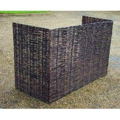 Wooden Framed Folding Willow Wheelie Bin Dustbin Cover