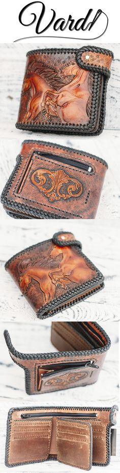 Vardi Craft - Highest quality leather long biker wallet by VardiCraft