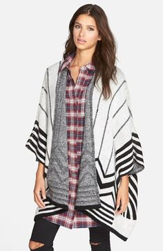 DREAMERS BY DEBUT Blanket Poncho (Juniors) (Online Only) available at #Nordstrom