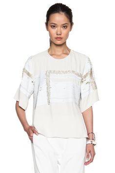 Image 1 of By Malene Birger Anitalis Top in Cream