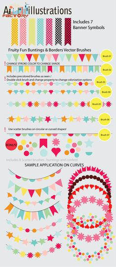 Bunting Vector brushes
