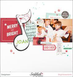 Merry and Bright Layout mit dem Dezemberkit {Weihnachtszauber} ´15 der Scrapbook-Werkstatt | SCRAP´ inFeACTed