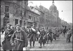 The red army in Budapest in 1945