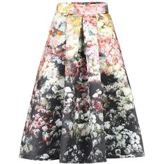 Jolie Moi Floral Print Skirt, Multi (200 PLN) ❤ liked on Polyvore featuring skirts, floral knee length skirt, flared skirt, floral printed skirt, knee length pleated skirt and flare skirt