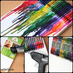 How to Make Melted Crayon Art. Melted crayon art is an easy and fun thing to do for those artistic adventurers out there. You can make melted crayon. Diy Wall Art, Diy Art, Canvas Wall Art, Crayon Painting, Crayon Art, Diy Crayons, Melting Crayons, Diy Projects To Try, Art Projects