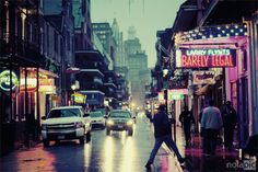 Bourbon Street in the French Quarter of New Orleans