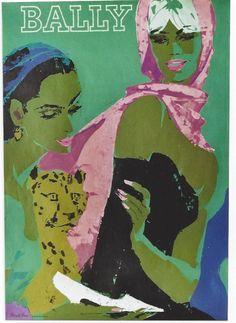 Original vintage poster BALLY LADIES SHOES GEPARD 1964   eBay