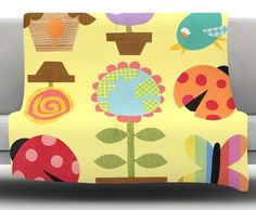 Spring Repeat by Jane Smith Fleece Blanket