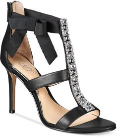 JEWEL By Badgley Mischka Henderson Strappy Bow Evening Sandals