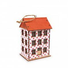Laterne Pünktchen, kleines Haus mit Kordel