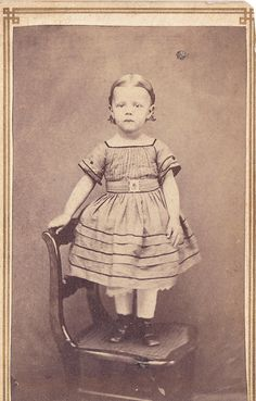1860's little girls dressed up, little boys wore dresses too !! Little boy babies wore dresses until about a year old then graduated to short pants.