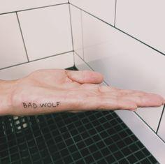 BAD WOLF ignorant style tattoo by @diseasezoe   www.instagram.com/diseasezoe Czech republic • Prague