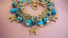GOLDEN RETRIEVER Jewelry f8  Dog Charm Bracelet  by HOBBYHORSELADY, $55.90