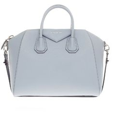 Pre-owned Givenchy Satchel ($1,615) ❤ liked on Polyvore featuring bags, handbags, apparel & accessories, satchels, wallets & cases, real leather handbags, leather satchel, structured handbag, leather satchel purse and leather handbags