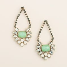 Perfect gift idea for Mother's Day- Check out Mint Rhinestone Estate-Style Drop Earrings from @worldmarket >> #WorldMarket Gift Giving, Gift Ideas, #MyAmazingMom