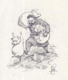 peter de seve | Peter de Seve - Pigs in Trouble, in Rob Stolzer's Illustrations Comic ...
