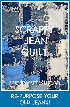 Shabby Jean Quilt - Upcycling Jeans!