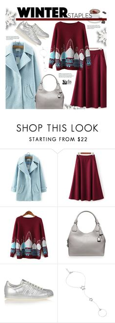 """""""Relax, It's Monday !"""" by beebeely-look ❤ liked on Polyvore featuring MICHAEL Michael Kors, adidas Originals, ADORNIA, Winter, Sheinside, winterstyle, winteressentials and shein"""