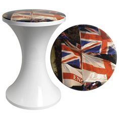 Sgabello basso Tam Tam City London Bandiere - Branex Design