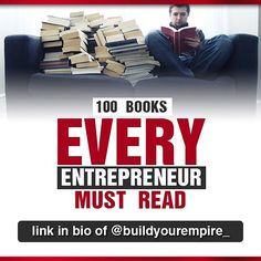 Link to download in my bio  Reading is a must for entrepreneurs to learn and grow! If you arent actively reading now try and free up at least 20 minutes a day to fit in some reading time. Heres a downloadable pdf checklist I (@bradcameron_ ) wrote of 100 books that every entrepreneur should read.  Hopefully youll come across 1 or 2 books to add to your reading list Enjoy! :) by buildyourempire_