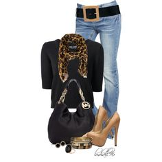 """Black, Tan, and Leopard II"" by lmhall96 on Polyvore"