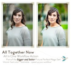 Picture Perfect Mega Set - actions for Photoshop and Elements for the portrait photographer.