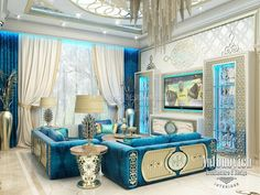 Living Room Design in Dubai, Living Room in Oriental Style, Photo 5