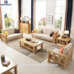 Wood Sofa, Solid Wood Furniture, Outdoor Furniture Sets, Outdoor Decor, Raw Wood, Walnut Wood, Framed Fabric, White Oak, Sofa Set