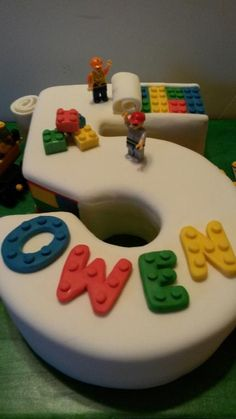 Lego cake number 5 by DeannaSB | Cake Decorating Ideas