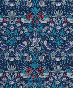Liberty Art Fabrics Strawberry Thief M Tana Lawn Cotton | Fabric | Liberty.co.uk