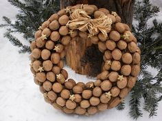 #advent #wreath #walnuts #christmas #xmas #decor #decoration