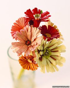Cheerful bouquet of paper flowers