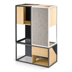 The stylish Albergo cat tower from MiaCara sets a new standard in design for contemporary cats. The ultimate piece of modular cat 'fur-niture', it provides a beautifully fluid indoor space for cats to climb, scratch, perch and sleep. Cat Shelves, Animal Room, Cat Climbing, Cat Scratcher, Cat Condo, Cat Room, Pet Furniture, Furniture Ideas, Cat Tree