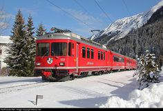 RailPictures.Net Photo: 513 RhB - Rhätische Bahn Be 4/4 at Davos, Switzerland by Markus Gmür