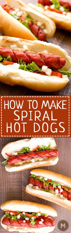 How to Make Spiral Hot Dogs
