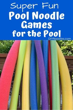 Pool Party Games using pool noodles will be a hit with guests or just a ton of fun for your family! Swimming pool games that entertain and are a blast to play! Pool Games To Play, Swimming Pool Games, Pool Party Games, Cool Swimming Pools, Water Games, Cool Pools, Fun Games, Noodles Games, Pool Noodle Games
