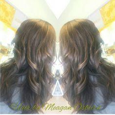Ecaille color melt by Meagan Osburn at Mira Bella Aveda salon in Guntersville, AL.