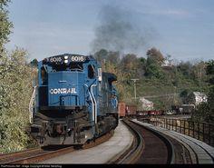 Conrail GE C39-8 (Dash 8-39C) Beaver River Bridge Wampum, Pennsylvania » October 21, 1990