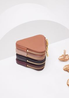 The Half-Moon and Triangle Pouches Coin Bag, Coin Purse Wallet, Leather Accessories, Handbag Accessories, Leather Pouch, Leather Purses, Cute Wallets, Small Leather Goods, Cute Bags