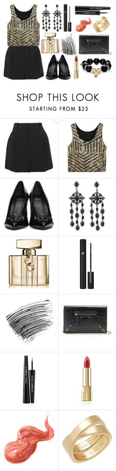 """I wish I could just ask you what you think of me."" by theodor44444 ❤ liked on Polyvore featuring Chloé, Versace, Bavna, Gucci, Lancôme, Bobbi Brown Cosmetics, Balenciaga, Dolce&Gabbana, Cartier and Carole Shashona"