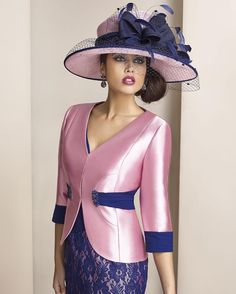 Pink & purple mother of the groom designs can have a couture look & feel. This 3/4 sleeve suit dress has a two tone effect that works. Your custom made to order formal dress can be in any color combination you need for the wedding.  The lace skirt and the light weight satin jacket make a lovely fashion statement. Our Texas based design team can recreate #motherofthegroom dresses like this for you with ease.  you can make any change you need to the design.  We also offer a replica services…