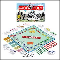 Monopoly  No game is better suited to the budding capitalist than this classic real estate game. Play the classic, or check out the new Here & Now Edition. It's got new tokens and new properties like Boston's Fenway Park, Houston's Johnson Space Center, and Nashville's Grand Ole Opry. Ages 8+.