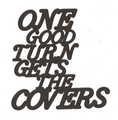 One good turn word silhouette by hilemanhouse on Etsy, $2.25