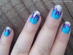 Dripping glitter tips