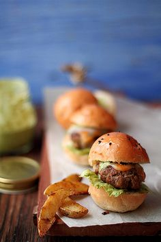 Lamb kebab sliders with coriander mint mayo by JourneyKitchen, via Flickr