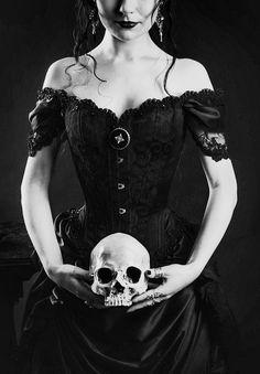 Gothic Design with Skull