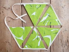 Lime Green Pear Bunting / Banner / Pennant / by annasbluebellblue Bunting Banner, Small Businesses, Photo Props, Pear, Garland, Panda, My Design, Lime, Shops